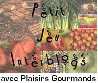 GATEAU AMENDE PECHES .....JEU INTER BLOG 8 #