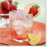douce heure d'été (1) : limonade aux fraises.