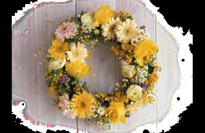 Bouquets fleuries jaunes png