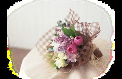 Bouquets fleuries roses png