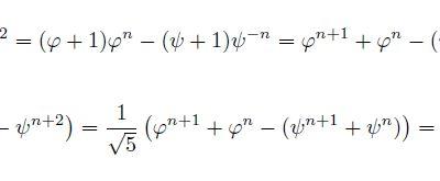 Suite de Fibonacci et formule de Binet