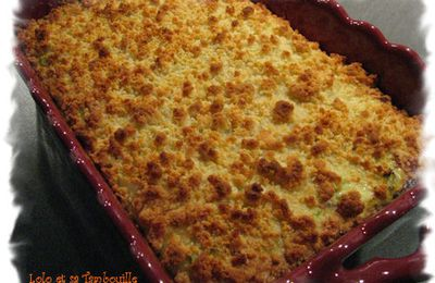 Crumble de courgettes au cabillaud