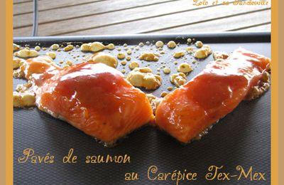 Pavés de saumon à la plancha au Carépice Tex-Mex