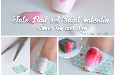 Nail art Saint Valentin 3 : Coeur Tie and Dye