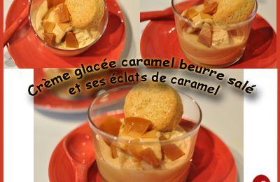 Crème glacée au caramel beurre salé et ses éclats de caramel