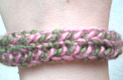 Lanière tricot bicolore bracelet