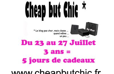 concours n°3....cheap but chic!