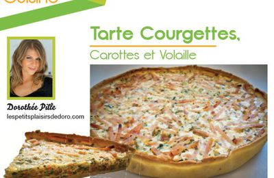 TARTE COURGETTES CAROTTES VOLAILLE