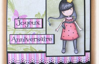 Carte d'anniversaire Gorjuss