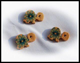 Nouveaux boutons tortues Fleuries...