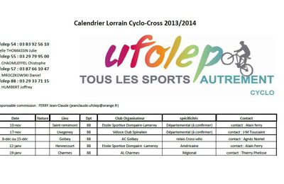 calendrier cyclo-cross 2013/2014