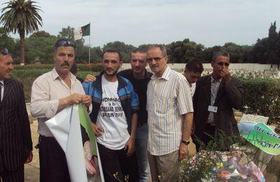 le 03 juin 2010 au cimetière AL ALIA : KHALEF MAHIEDINE s'est recueilli sur la tombe de DDA BOUSSAD