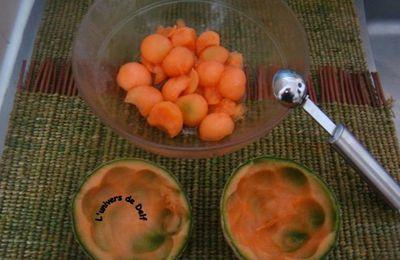 Salade fraîcheur au melon.
