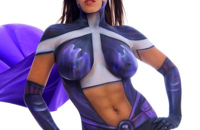Body painting Femme Brune Sexy