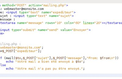 Faille formulaire mail(); php