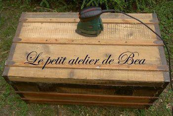 Remise en état d'un coffre en bois