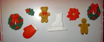 Aimants thème Noël en fimo