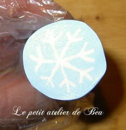 Tuto canne ( cane ) fimo flocon - Tutoriel en images