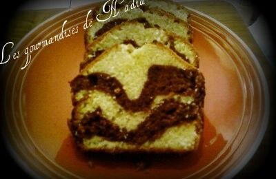 CAKE MARBRE AMANDES / CHOCOLAT