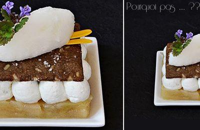 Roquefort Papillon, poires, croustillant de seigle & sorbet au vin jaune