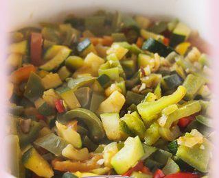 Wook de petits légumes Taï