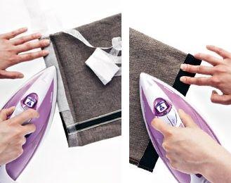 إصلاح حاشية الملابس بدون خياطة