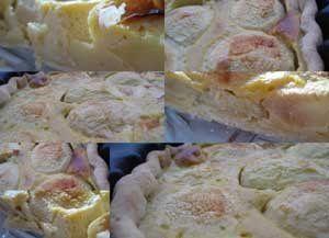 Une tarte aux pommes à l'amande