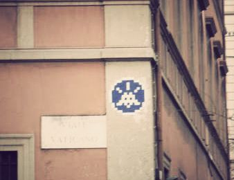 Street Art - Rome - Space Invaders