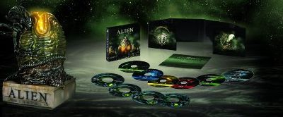 Coffret ultra collector des Blurays de la quadrilogie des Aliens