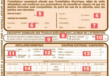 Consuel : document d'attestation de conformité