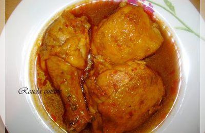 Chtitha djedj (Poulet en sauce relevée) شطيطحة جاج