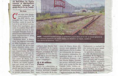 Le projet ferroviaire est reparti...