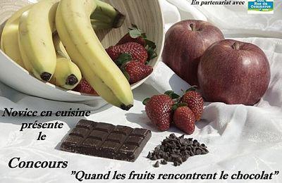Mignardises courgettes-chocolat et coulis de fraises