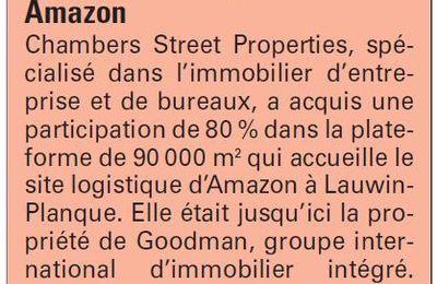 Goodman vend 80% de l'entrepôt Amazon !