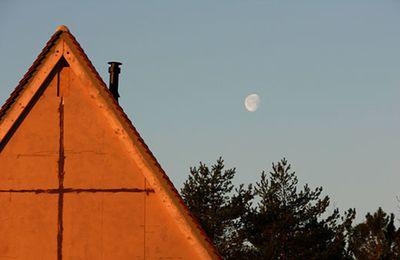 La lune au petit matin...