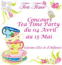 "Ma participation au concours ""Tea Time Party"""