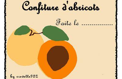 Etiquettes pour confiture d'abricot