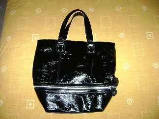Sac noir vernis- Ref: SAC17