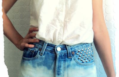 Short Levi's DIY Vintage Delavé Degradé Clouté