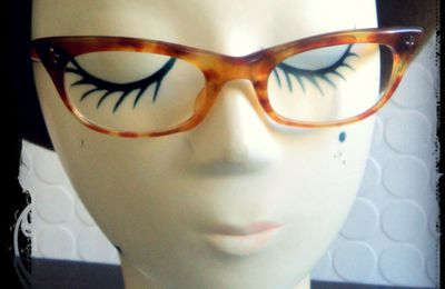 Lunette de vue Vintage Retro Papillon 50's Mad Men