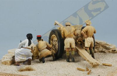 "1/35e : 75mm battery- 1er RA ""BirHakeim 1942"""