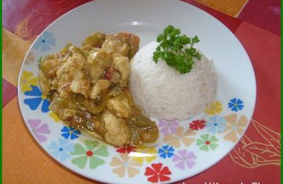 Emincé de poulet au curry