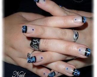 Nail art French spirales