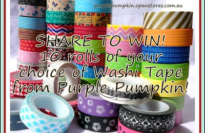 Washi Tape Giveaway !