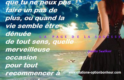 Citation d'Eileen Caddy : recommence !