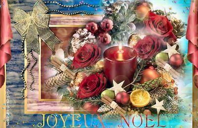 Panneau joyeux Noël avec bougies