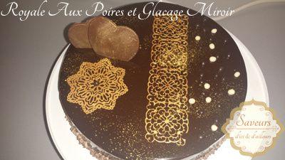Royal Chocolat Aux Poires & Glacage Miroir