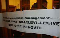 Ligne SNCF Charleville-Givet : Elus communistes et cheminots CGT toujours mobilisés