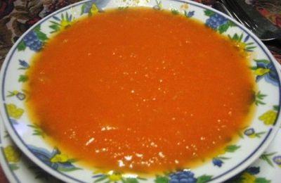 potage carottes dans le microcook