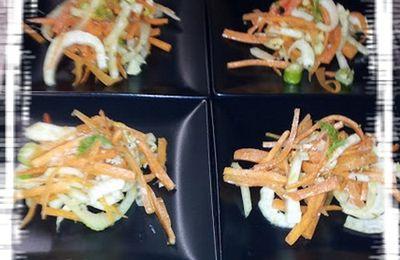 Salade fenouil & carottes à l'orientale